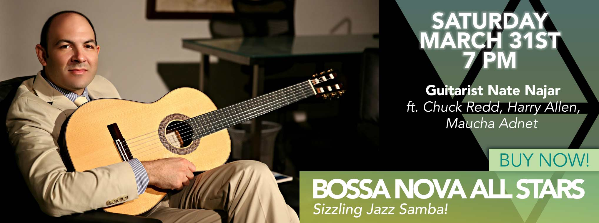Bossa Nova All Stars - Saturday March 31st 7PM